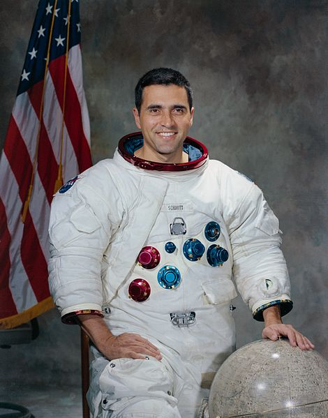 Harrison Schmitt, the only geologist to walk on the Moon.