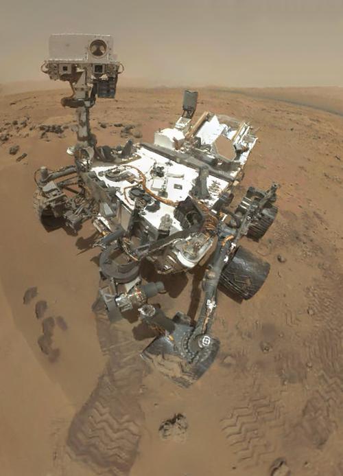 Hi, Mom!  (NASA/JPL-Caltech/Malin Space Science Systems)