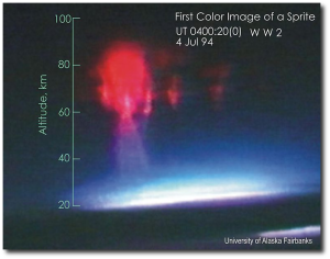 First color image of a red sprite