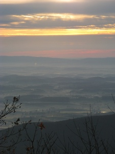The Shenandoah Valley in Virginia is karst terrain.  Image by Richard Bonnett.