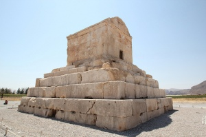 The tomb of Cyrus in Iran.  Image by Reibei.