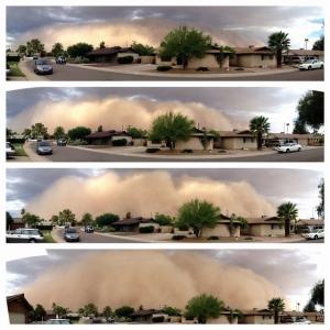 Phoenix, Arizona, dust storm, July 2012 (D. Patrick Lewis)