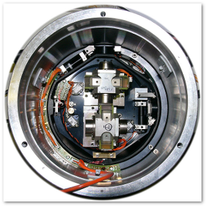 A low-frequency 3-direction ocean-bottom seismometer (cover removed).  Hannes Grobe