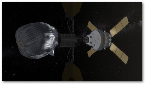 A manned NASA craft bags an asteroid in the 2020s.  NASA
