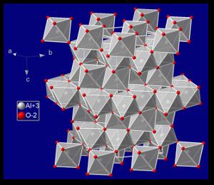 Corundum crystal structure.  NIMSoffice