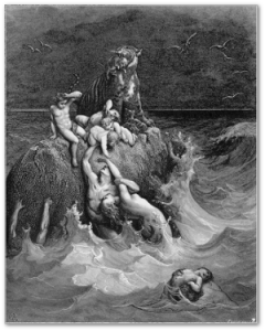 "The life of Pi,  catastrophist style - Gustave Doré's ""The Deluge,"" 1865."