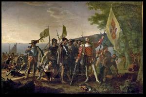 "Vanderlyn's ""Landing of Christopher Columbus.""  Wikipedia."