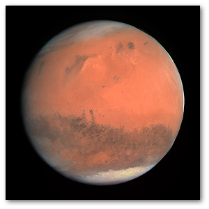 True-color image of Mars from the Rosetta spacecraft.