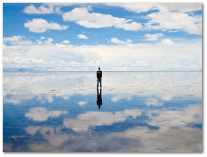 They can take some awesome photos, too, if the salt pan happens to be wet.  Ezequiel Cabrera