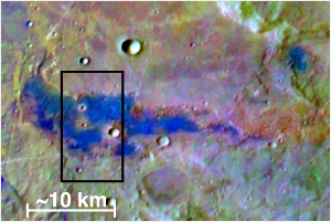 A salt deposit is identified on Mars.  NASA