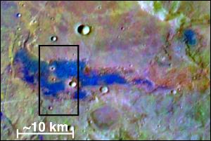 A salt deposit is identified on Mars.  NASA