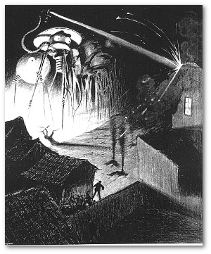 "Artwork by Henrique Alvim Corréa for the 1906 Belgian edition of  ""The War of the Worlds.""  Source"