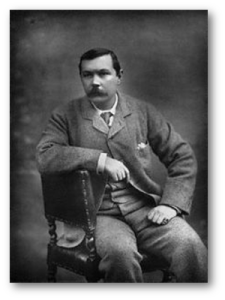 "Arthur Conan Doyle, the year after ""The Adventure of the Blue Carbuncle"" was published.  Source"