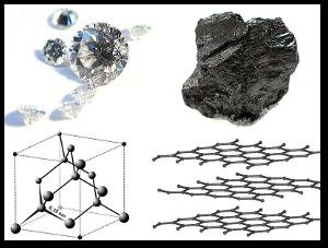 Diamond and graphite.  Source
