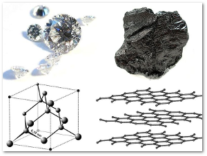 Diamond and graphite.  Source