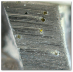 Closeup of a diamond saw blade.  Source