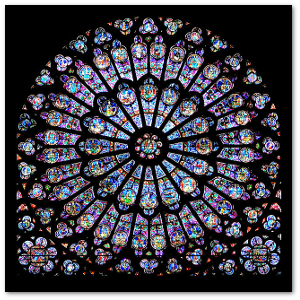 Medieval artists didn't know they were working with plasmons when they used colloid gold to color this window in Notre Dame Cathedral.  Source