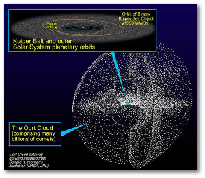 The Oort cloud is really huge.  We have absolutely no idea how many comets are in the Kuiper Belt and Oort cloud.  Source