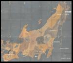 Map of Kyushu, showing tsunami sites in January 1700.  Source #1 below