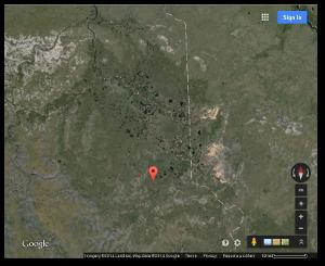 The white line is the border between Krasnoyarsk (left) and Sakha (right)