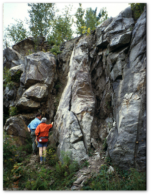 To get a geology job, you have to make rocks like these tell a chapter in a never-ending story of the Earth.  USGS