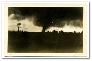 The 1932 Tuscaloosa tornado.  Source