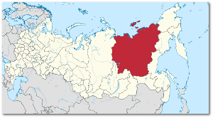 The Popigai crater sits on the border between Sakha and the region to the left, which is Krasnoyarsk. Source