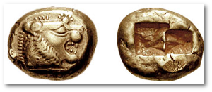 I don't know how far this Lydian 1-stater would have gone in those shops.  Image source