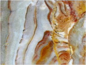Banding in agate.  Morguefile/pippalou
