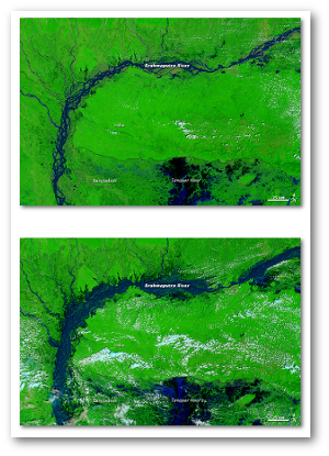 Before (top) and after (bottom)  NASA