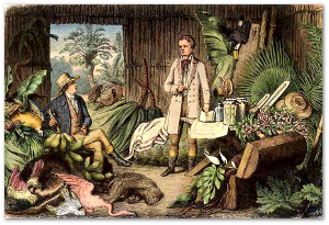 """""""Aime, do you think we went a little overboard?"""" - Alexander von Humboldt.  Image source"""