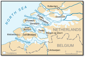 The Netherlands were hard hit during the North Sea Flood of 1953.