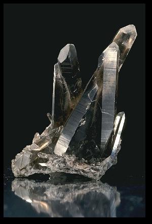 Smoky quartz.  Source