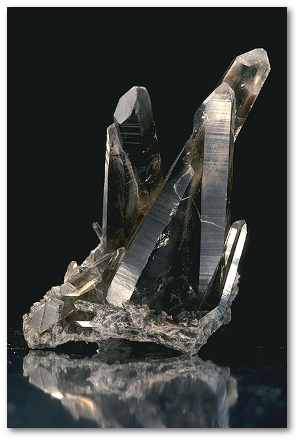 Smoky quartz.  Source