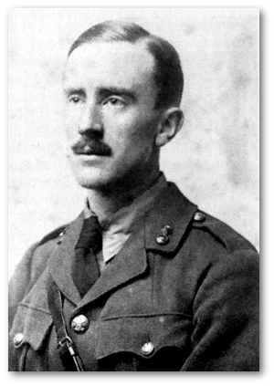 J. R. R. Tolkien during his World War I service.  Source