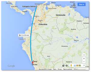 Today it takes a plane five and a half hours to make the trip.  It took Humboldt and Bonpland 16 months, but they did stop along the way frequently to do science.