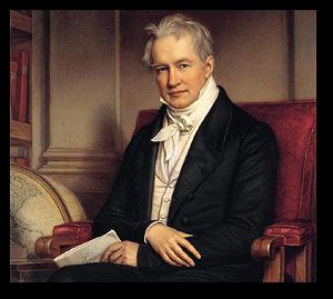 Josef Stieler painted Humboldt in 1843