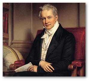 Josef Stieler painted Humboldt in 1843
