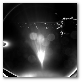 Last image of Philae taken from Rosetta, a few minutes after separation.  ESA
