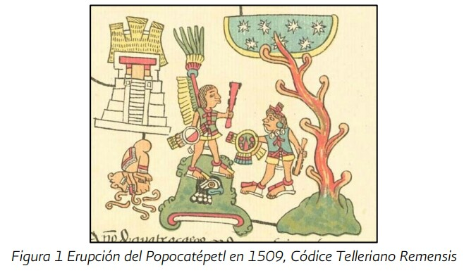 Aztec picture of 1509 eruption