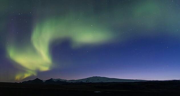 Eyjafjall and Northern Lights